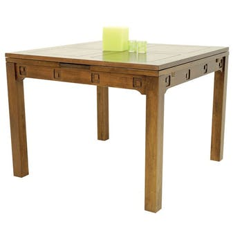 Table repas extensible hévéa 100/180cm TESSA