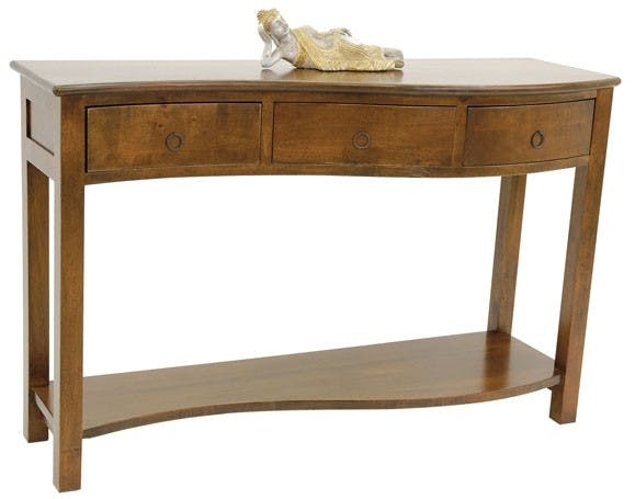 Console vague hévéa 120cm TRADITION