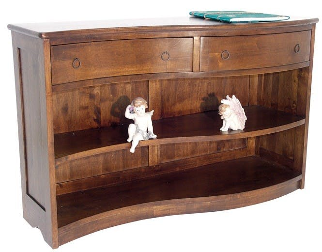 Console bibus vague hévéa 120x75cm TRADITION