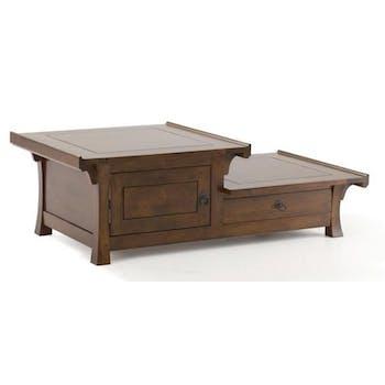 Table basse hévéa 125xH41cm MAORI