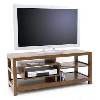 Meuble TV hévéa 120cm HELENA