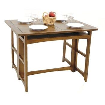 Console extensible en table repas hévéa 100cm TRADITION