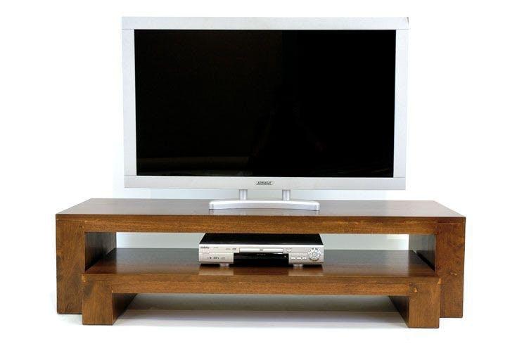 Meuble TV 2 élèments hévéa OLGA 140cm