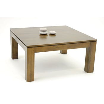 Table basse hévéa 80X80cm HELENA