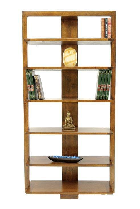 Bibliothèque moderne hévéa 95x190cm HELENA