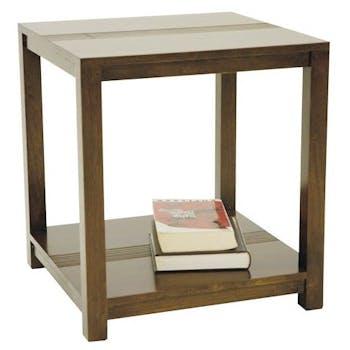 Bout de canapé table chevet hévéa 50x55cm GALA