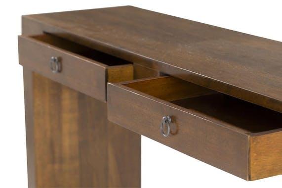 Console bois massif 2 tiroirs MAORI