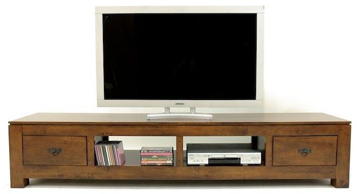 Meuble TV long bois massif HELENA