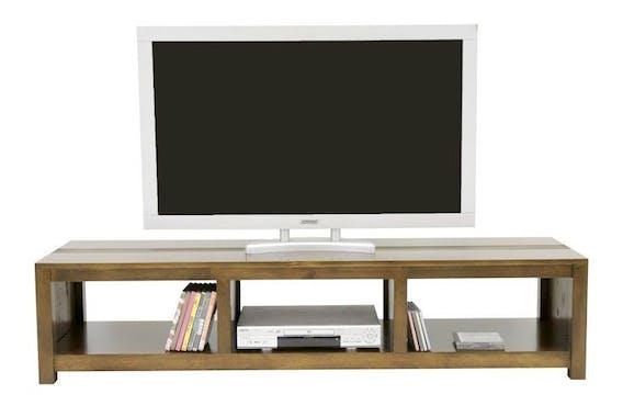 Meuble TV hévéa 3 niches 162cm GALA