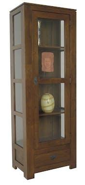 Etagère vitrée hévéa 60x170cm HELENA