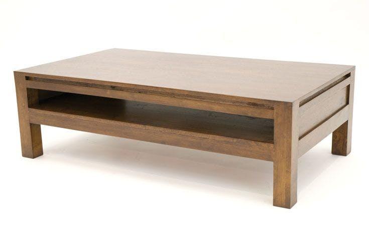 Table basse hévéa 115X65cm OLGA