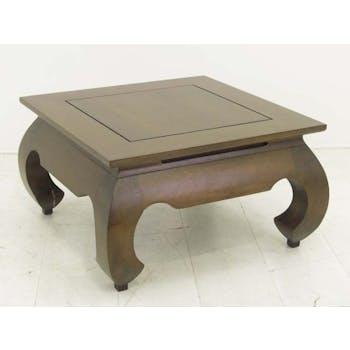 Table basse opium hévéa 66x66cm MAORI