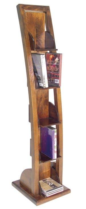 Etagère range CD 4 étages hévéa 115cm MAORI