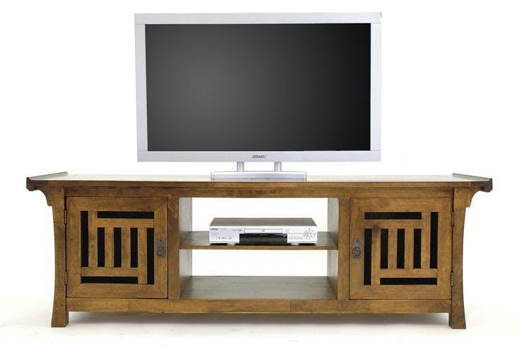 Meuble TV asiatique japonais hévéa 180cm MAORI