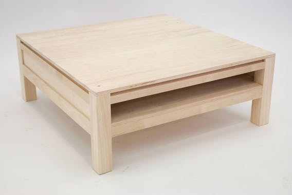 Table basse hévéa 90X90cm OLGA