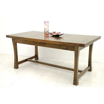 Table à manger extensible bois massif style colonial 180-260 MAORI