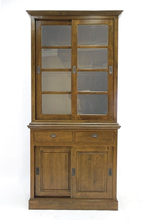 Vaisselier portes vitrées coulissantes 106x220cm TRADITION