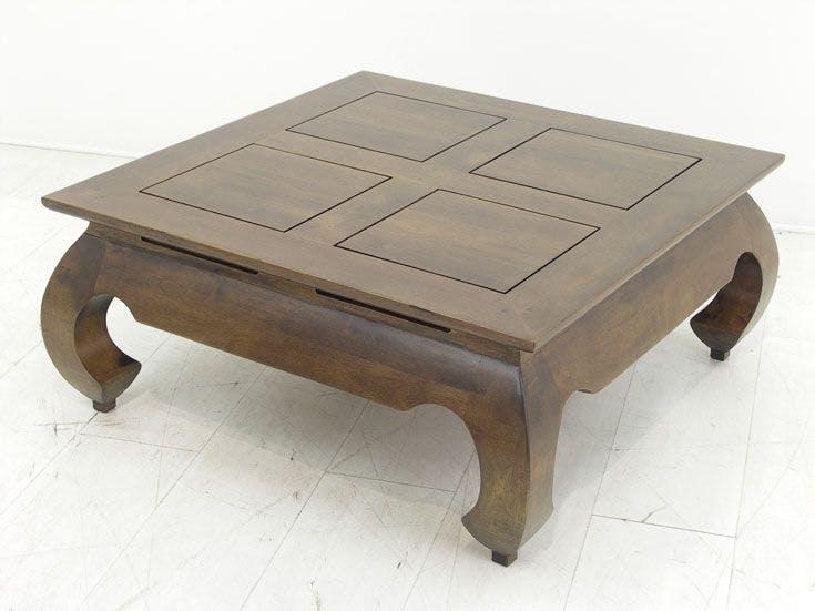 Table basse Opium hévéa 83x83cm MAORI