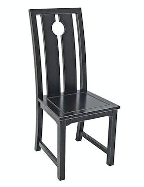 Chaise chinoise ming hévéa massif MAORI