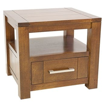 Table de chevet moderne hévéa massif ATTAN