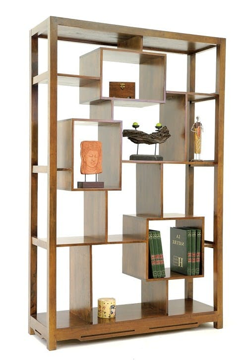 Bibliothèque déstructurée bois massif MAORI