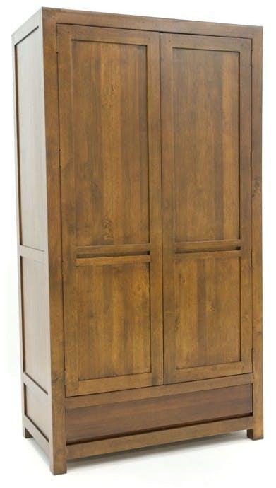 Armoire moderne hévéa 105x195cm OLGA