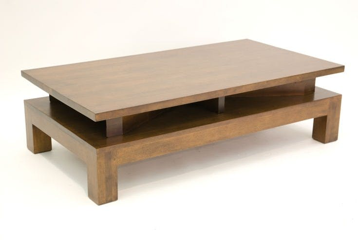 Table basse hévéa 120cm HELENA