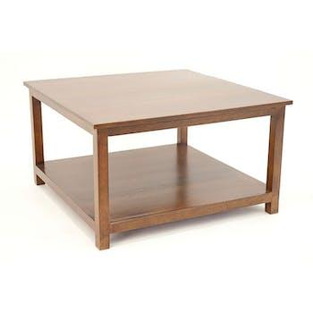 TABLE BASSE TRADITION carrée 70cm 2 niveaux