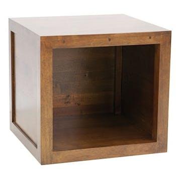 Bout canapé chevet cube hévéa 45x42cm OLGA