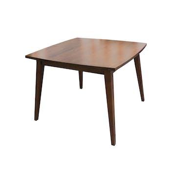 Table repas hévéa carrée 100cm SIXTIES