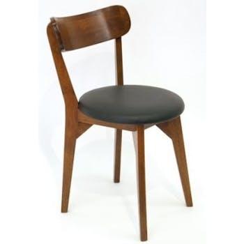 Chaise vintage arrondie hévéa SIXTIES