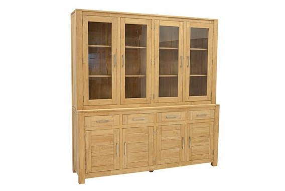Buffet vaisselier vitré bois moderne ATTAN 200cm