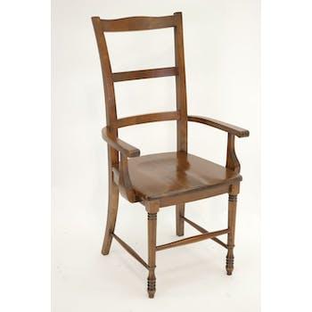 Chaise hévéa avec accoudoirs TRADITION
