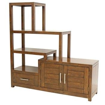 Etagère escalier 4P 1 tiroir ATTAN 142x40x145cm