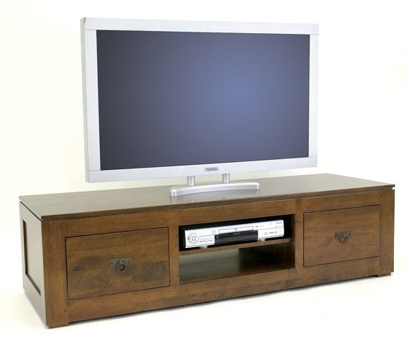 Meuble TV hévéa 150x40cm HELENA