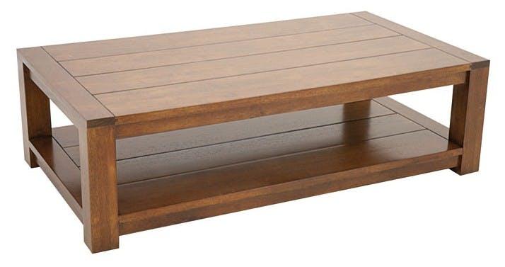 TABLE BASSE ATTAN 120x65x35CM double plateau