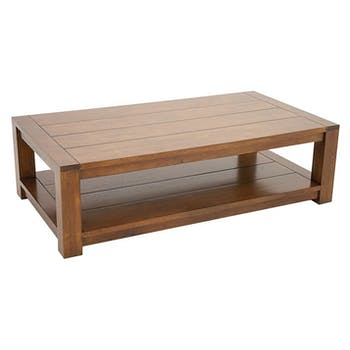 TABLE BASSE ATTAN 120x65x35CM double plateau