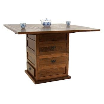 Table basse transformable en table à manger 110 MAORI