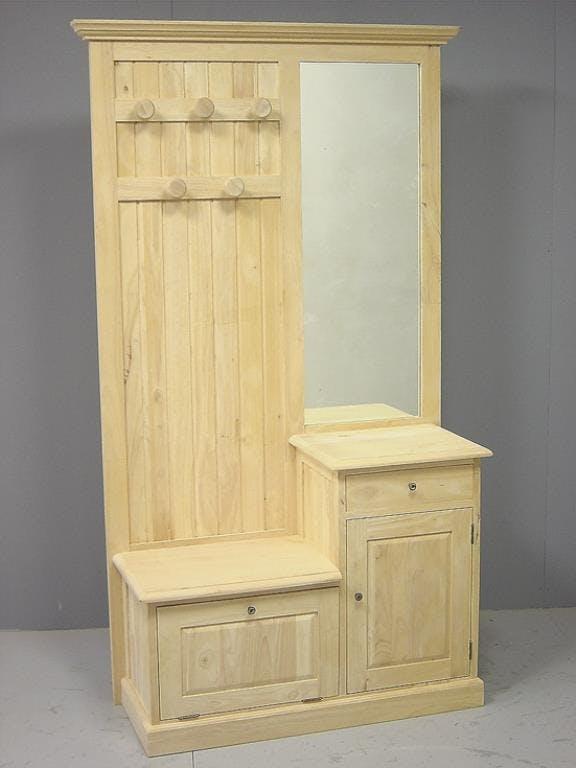 Meuble d'entrée vestiaire Tradition 2P 1T 190 cm