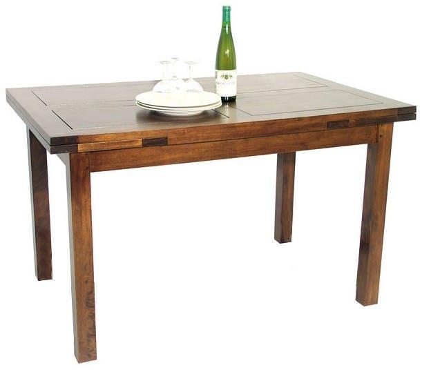 Table repas italienne hévéa 125-195cm Tradition