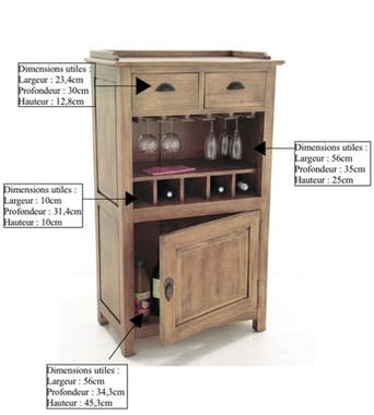 Meuble bar Tradition 123 cm