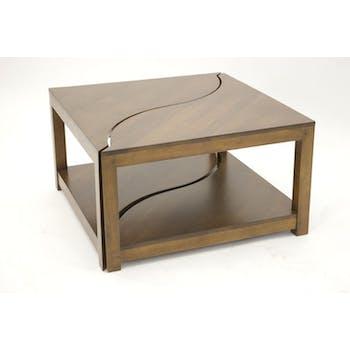 Table basse vague carrée TRADITION 70 cm