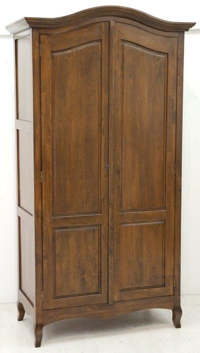 Armoire 2 portes hévéa massif 105x200cm TRADITION