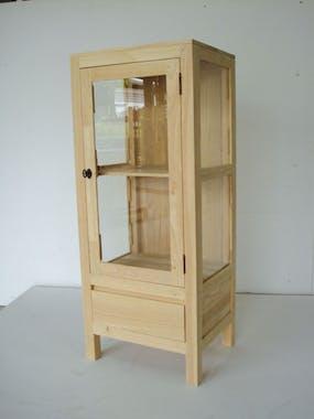 Etagère 1 porte 1 tiroir hévéa 120cm OLGA