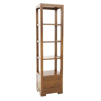 Colonne Hévéa 2 tiroirs, 4 étagères 50x40x190cm NIAGARA