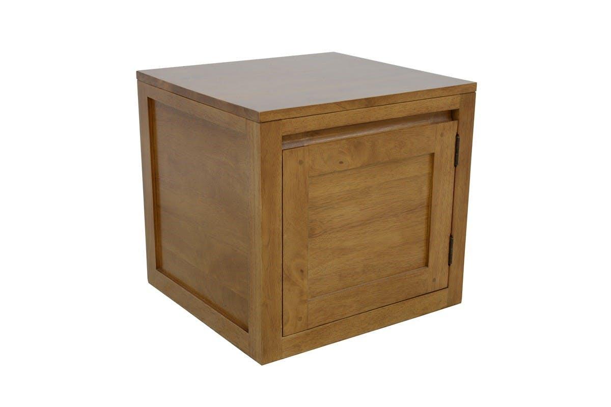 Cube de rangement Hévéa 1 porte 45x42x42cm OLGA
