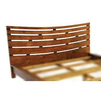 Tête de lit incurvée Hévéa pour lit couchage 140 144x100cm NIAGARA