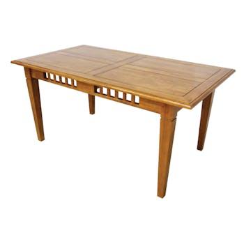 Table de repas Hévéa style Colonial, 1  tiroir, 160x90x76cm MAORI