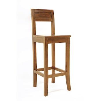 Chaise bar Hévéa avec dossier 38x41x105cm HELENA