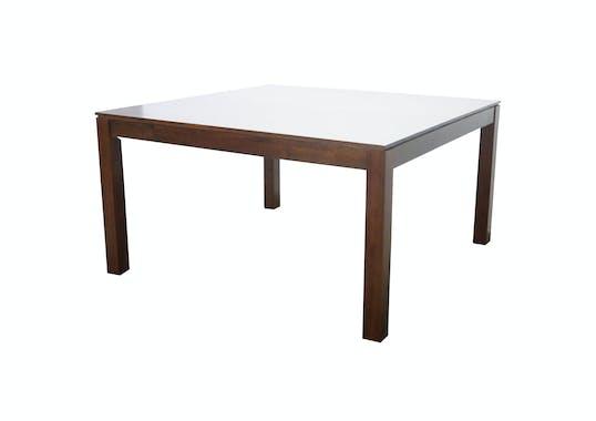 Table de repas carrée Hévéa 130x130x76cm HELENA